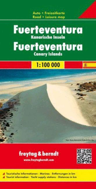 Fuerteventura, f&b mapa de carreteras y senderos