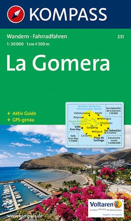 Gomera, Kompass Wanderkarte