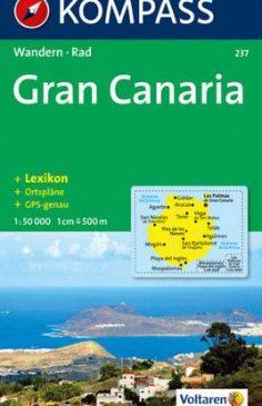 Gran Canaria, Kompass Wanderkarte