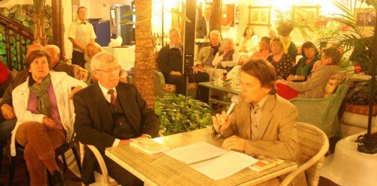 Klaus Matzdorff y el cónsul Peter Schmid en el Hotel Monopol, Puerto de la Cruz 2014