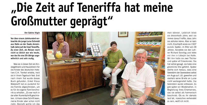 """Klaus Matzdorff signiert Exemplare """"Canarisches Tagebuch"""""""