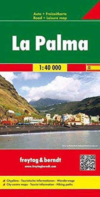 La Palma, f&b Straßen- und Wanderkarte