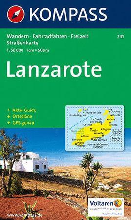 Lanzarote, Kompass-Wanderkarte