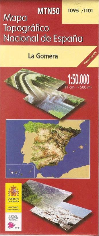 Mapa topográfico de La Gomera en 1 hoja