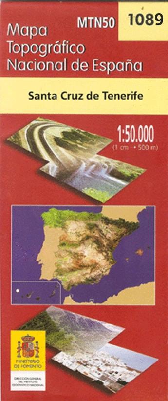Mapa topográfico de Tenerife en 7 hojas