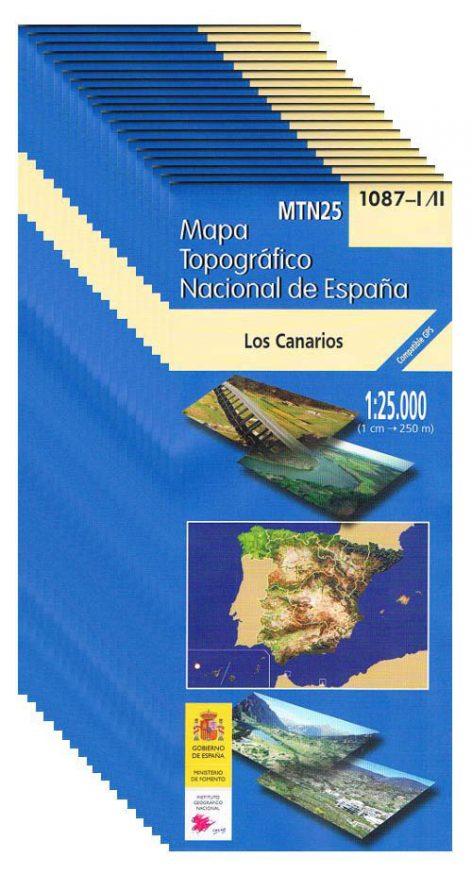 Mapa topográfico de Tenerife en 20 hojas