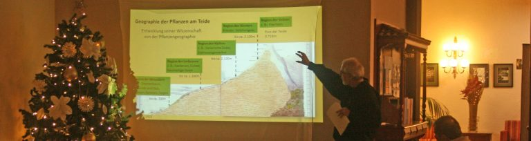 Vorträge über Humboldts Reiseweg zum Teide