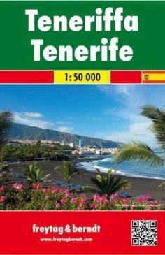 Tenerife, f&b mapa de carreteras y senderos