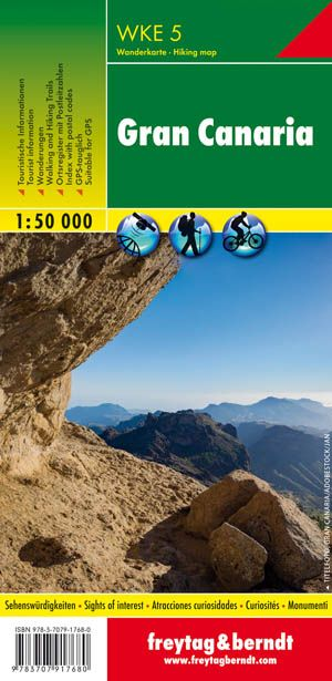 Gran Canaria mapa de senderos WKE 5