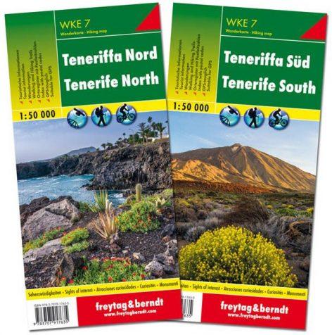 Teneriffa Nord und Süd, 2 Wanderkarten WKE 7