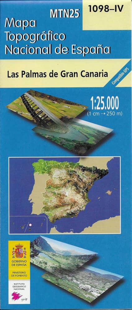 Mapa de Gran Canaria MTN25 a escala 1:25000