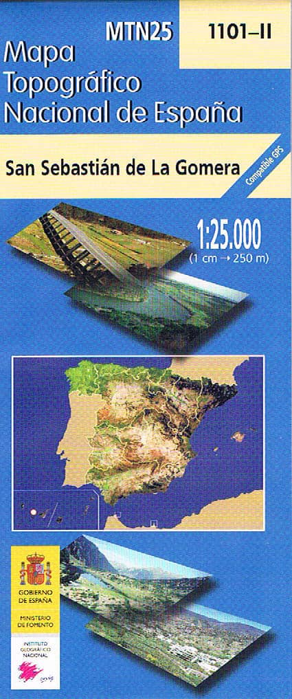 Mapa de La Gomera MTN25 a escala 1:25000