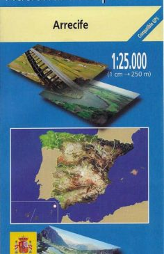 Karte Lanzarote MTN25 im Maßstab 1:25000