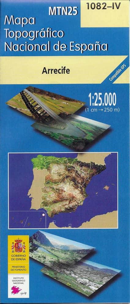 Mapa de Lanzarote MTN25 a escala 1:25000
