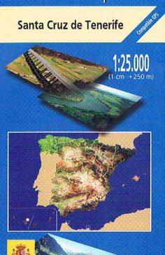 Mapa de Tenerife MTN25 a escala 1:25000
